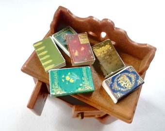 Dollhouse Mini Medieval Book Based on ca.1265 Bible Miniature for Doll House