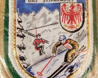 Vintage embroidered skiiers patch from Innsbruck, Austria