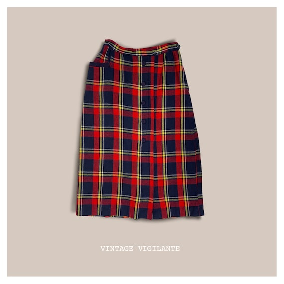 50's Plaid Skirt - image 1