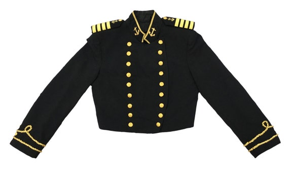 Thorngate Uniforms, Military Jacket, Black and Gol