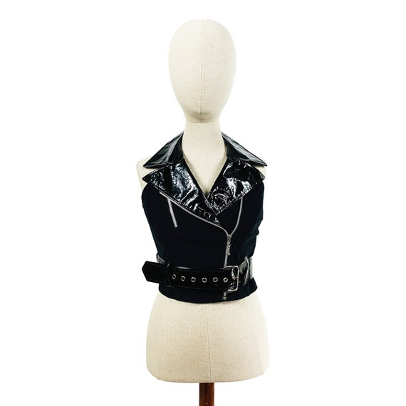 80s Bad Gal Bondage Vest