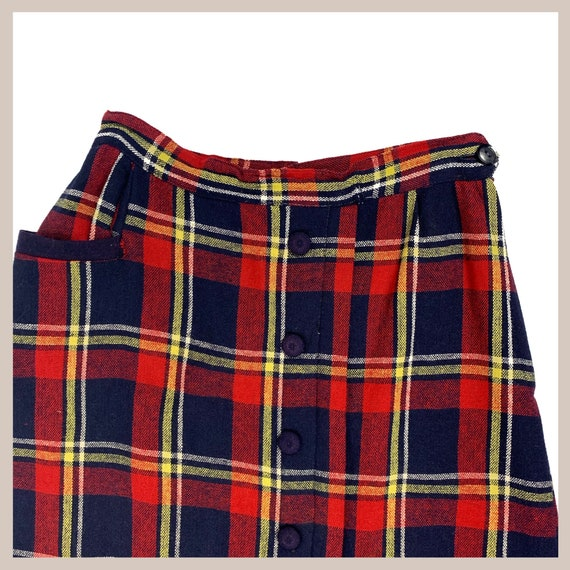 50's Plaid Skirt - image 3