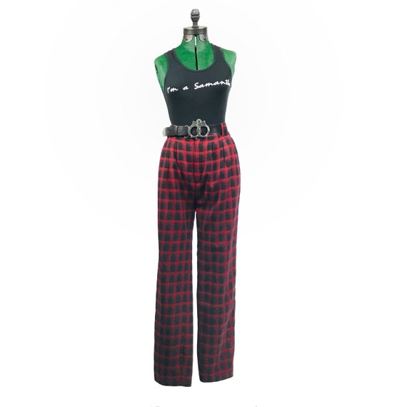 Polly's Punk Rock Plaid Trousers