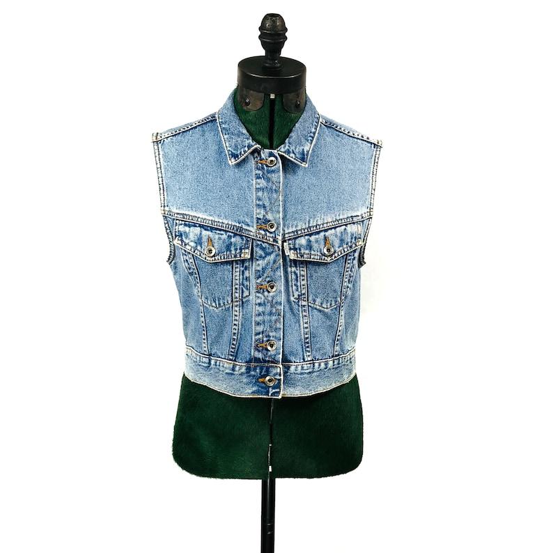 dcf79f15d 90's Levis Vintage Wash Denim ( Jean ) Vest