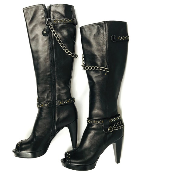 Fabi Leather Thigh High Boots