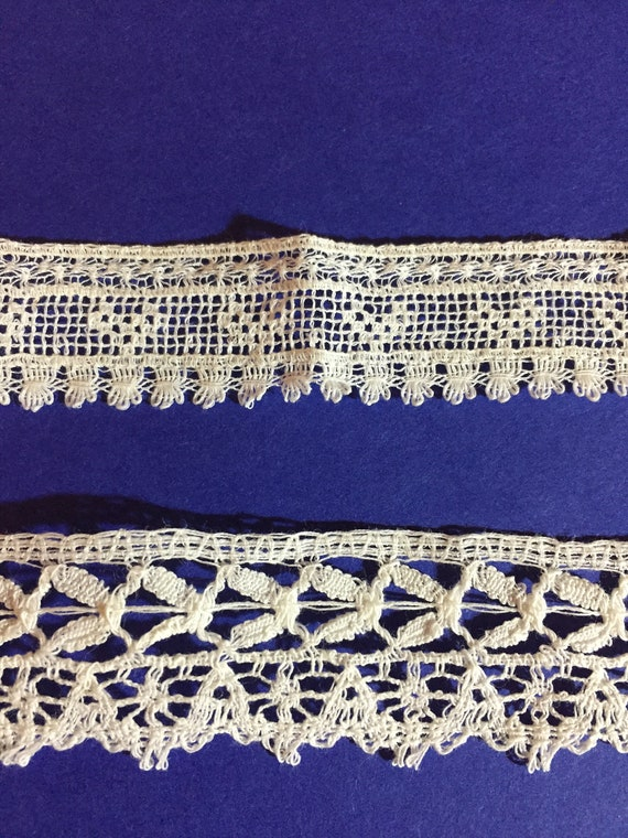 """Vintage Trim Royal Blue and White Pony Embroidered 3//4/"""" Wide Trim by the Yd"""