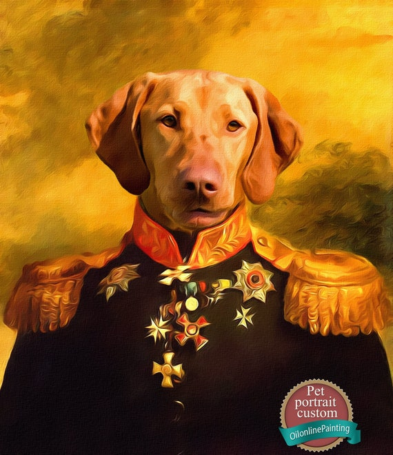 CUSTOM Royal Pet Portrait Painting  digital pet portrait gift  King Queen Prince or Princess  Costumes Dog The Sovereign