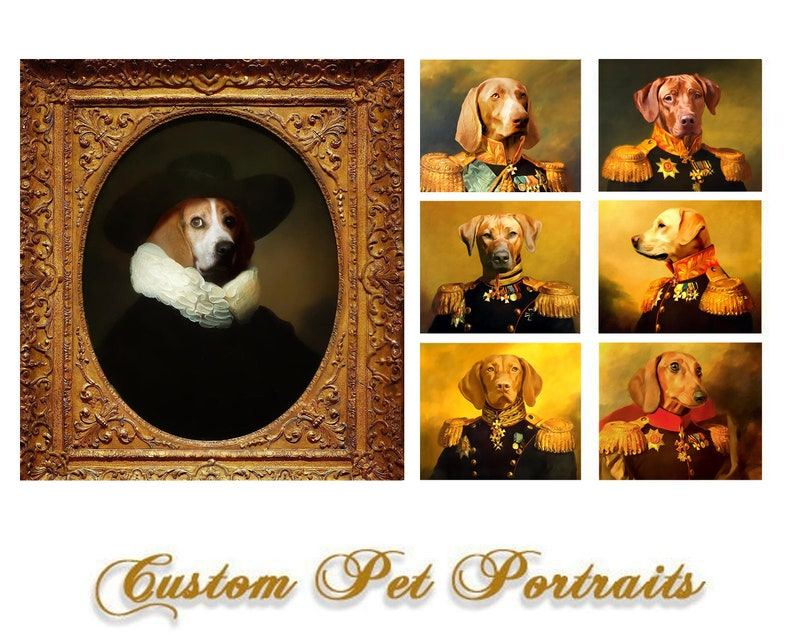 funny gifts Dog Portrait Personalized gift Funny gift Personalized gift Pet portrait Custom gift Princess Regal pet portraits