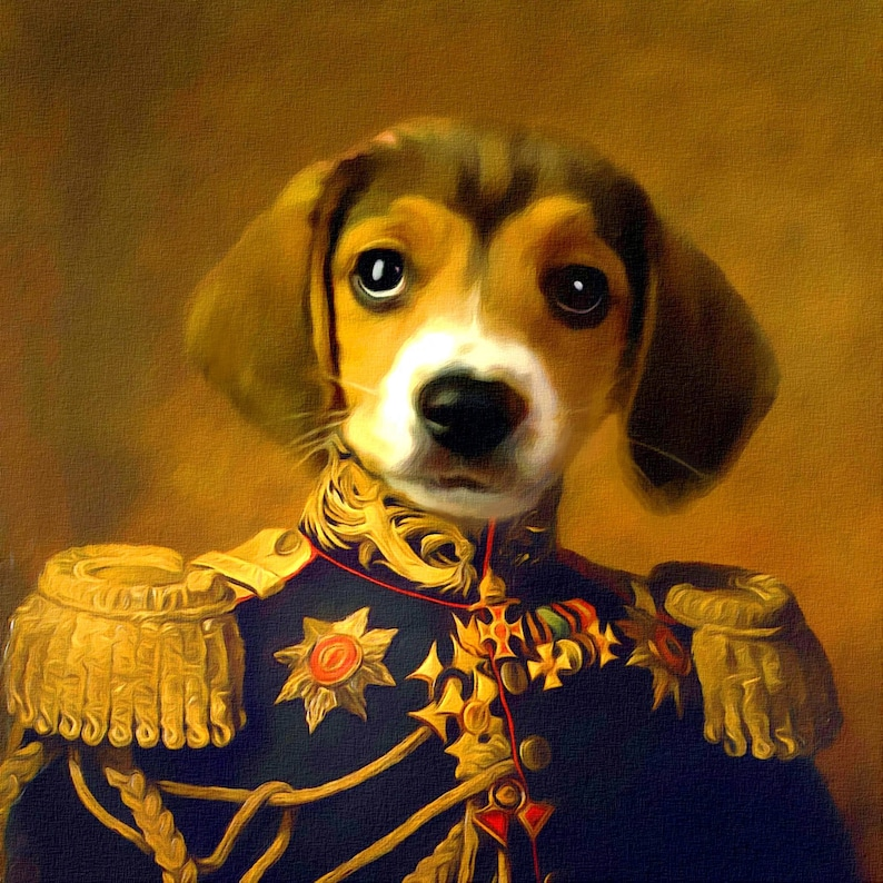 e1ca2a6e54f6 Pet portrait custom Regal pet portrait Personalized custom oil | Etsy