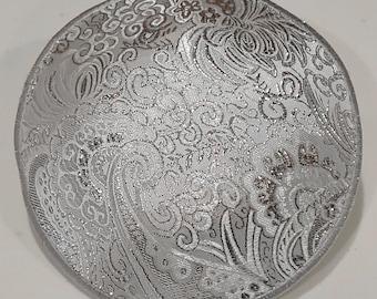 Silver Crown Kippah (with optional flower)