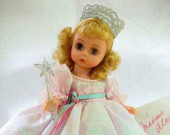 """Madame Alexander GLINDA The GOOD WITCH 8"""" Doll from The Wizard Of Oz with Box and Tag - Retired Vintage Doll"""