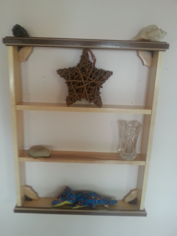 Knick Knack Shelf Made From Maple And Walnut Etsy