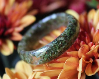 Hemp Ring - Medicinal Marijuana Advocacy, Reefer Madness, Stoner Accessory, Hashish Pot Plant, Hippie, Wild and Free, Open Minded Soul, Gift