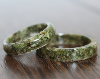 Hemp Rings - Jewelry Set, Medicinal Marijuana Advocacy, Reefer Madness, Stoner Accessory, Hash Pot Plant, Hippie, Wild & Free, Open Mind