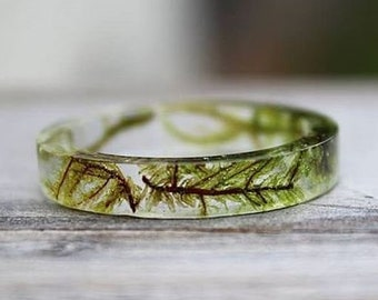 Moss Ring - Common Tree, Forest, Botanical, Terrarium Band, Druid Fairy, Nature Inspired, Rocky Mountain, Woodland Mosses, Hippie Wild Child