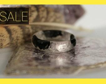 Tourmaline Ring - Lepidolite, Black Crystal, Precious Crystals & Stones, Metaphysical, Spiritual Awakening, Virgo Libra September Birthstone