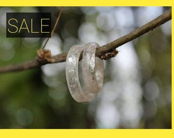 Lepidolite Ring - Precious Crystals & Stones, Raw Stone Band, Natural Gemstone, Anti Nightmare, Simple, Virgo Libra September Birthstone