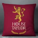 Game of Thrones Pillow. Game of Thrones Gift. Last Name Personalized Game of Thrones Decorative Pillow. Birthday Gift and Housewarming Gift.