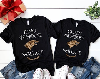 a066b7553 Matching Couple Shirts, His and Hers Matching Tees, Gift for Him,  Personalized Game of Thrones Shirts, Perfect Fathers Day Gift for GoT fan!