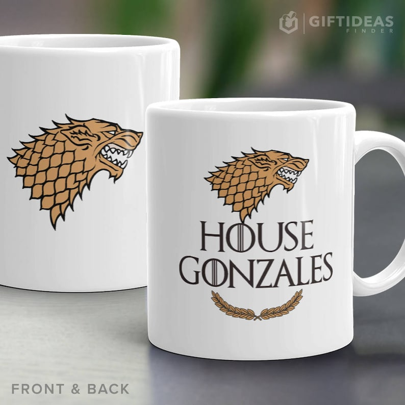 Game of Thrones Mug. Fathers Day Personalized Game of Thrones Stark