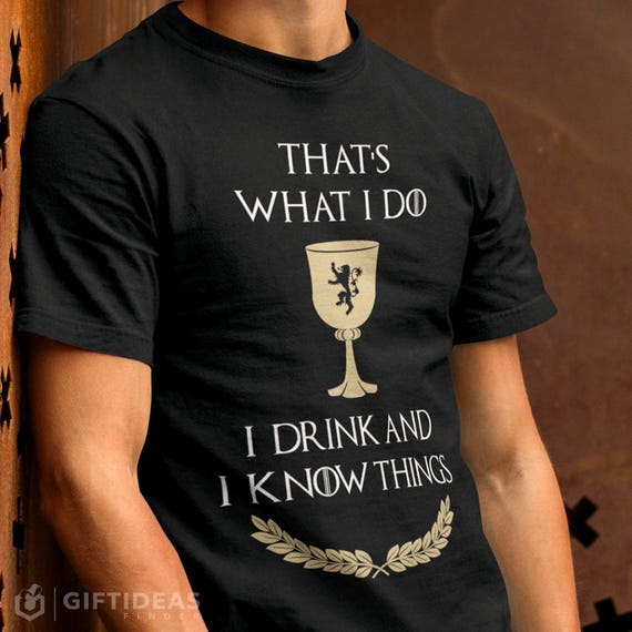 Game Of Thrones inspired Tyrion mens funny tshirts God Of T**s /& Wine