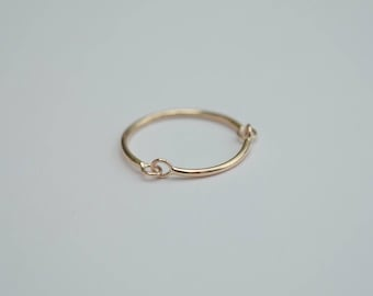 9ct gold horse bit ring