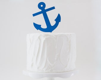 Nautical Cake Topper, Anchor Cake Topper, Nautical Party Supplies