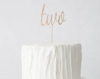 Second Birthday Cake Topper