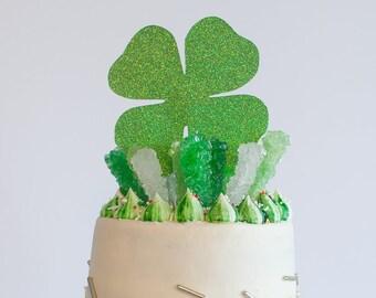 St. Patricks Day Cake Topper, Shamrock Cake Topper, Four Leaf Clover