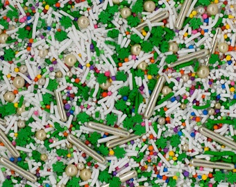 END Of The RAINBOW Sprinkle Mix, St. Patricks Day Sprinkle Mix