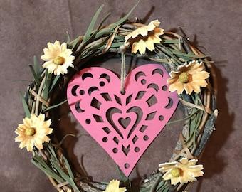 Floating Heart Wreath