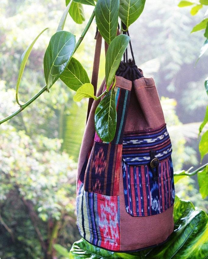 flak sack Bucket Bag Boho Bucket Bag Boho Bag Hippie Bag