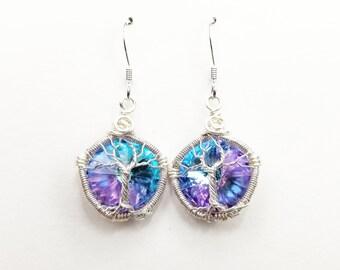 Swarovski Crystal Tree of Life Earrings