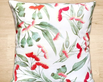 Bronte Red Floral Cushion Cover 35cm x 50cm