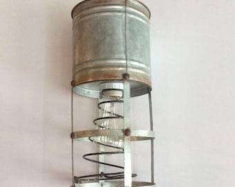 Repurposed Metal Light Fixture