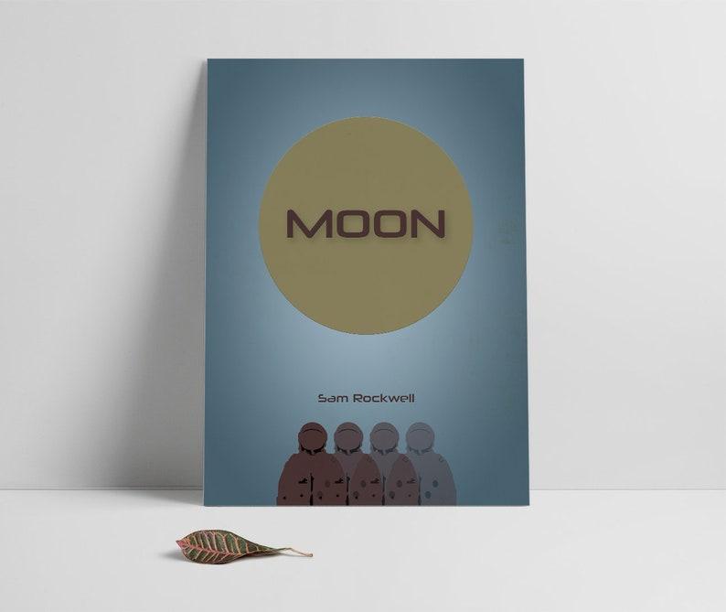 Moon,Poster print,Moon alternative movie poster printable,Sam  Rockwell Minimal film art,Instant download,Digital art,Printable files