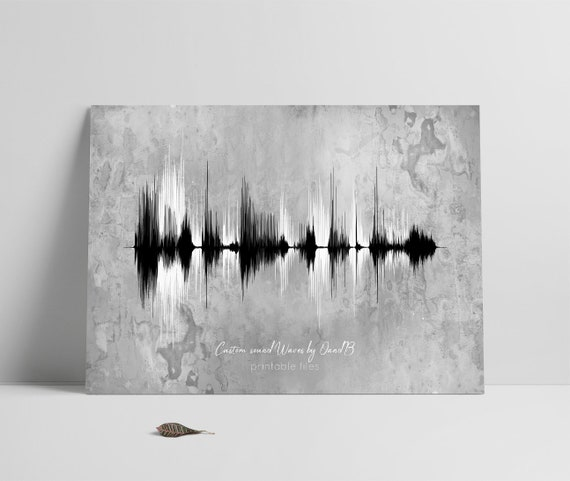 Father's day Gift, Personalized Soundwave Print, Sound Waves Printable,  Multiple Voices, Song, Music, Heartbeat, Mother's Day, New Baby Gift