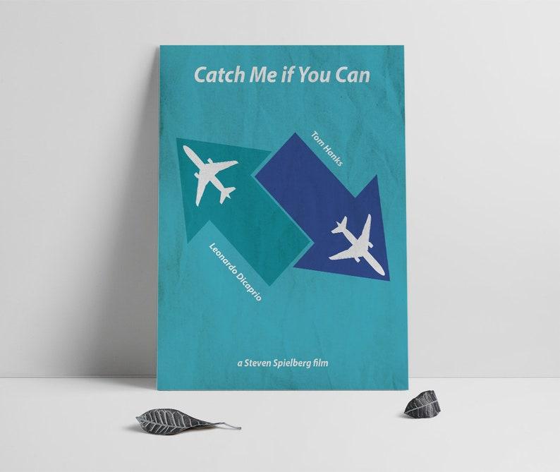 Movie Poster Printcatch Me If You Can Poster Printalternatve Etsy