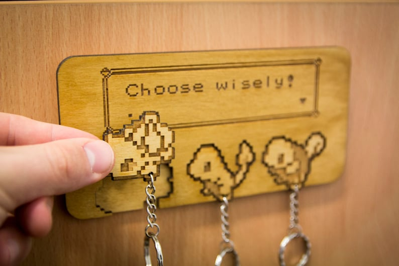 Choose Wisely Inspired Lasercut & engraved keyring and wall image 0