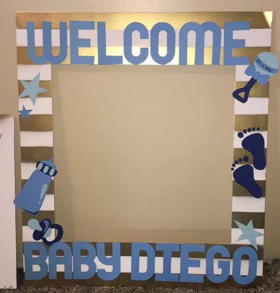 Its A Boy Baby Shower Photobooth Frame Party Prop Etsy