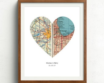 Personalized map | Etsy