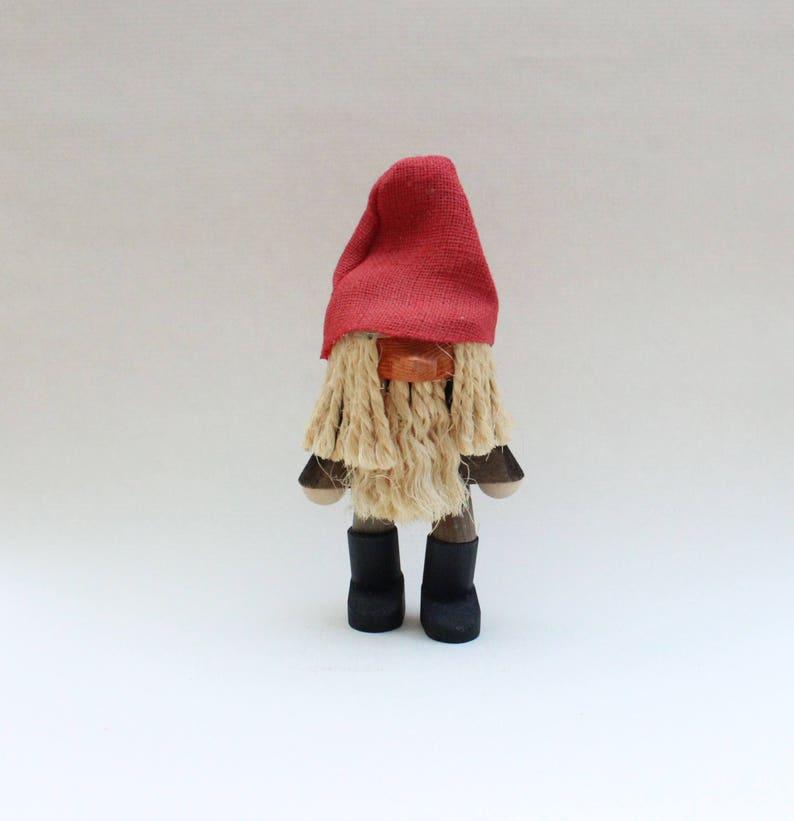 Coole Weihnachten Jahrgang Holzhandwerk Figur Skulptur Gesichtslosen Santa Gnome Made In Schweden Skandinavischen