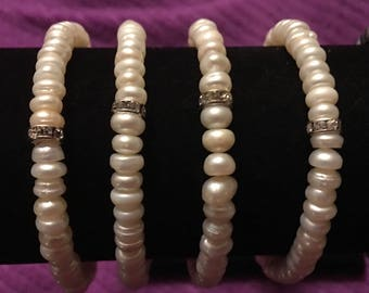 Dainty Genuine Fresh Water Pearls both Black and White to Choose From.