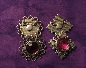 New Brooches!  Add your Favorite 18mm Interchangeable Snap to this Brooch - Choose from Two Styles