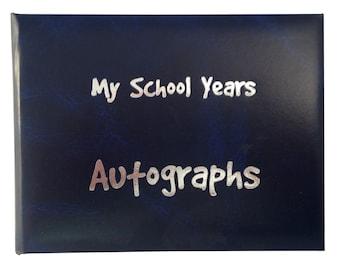 School Autograph Book - Dark Blue