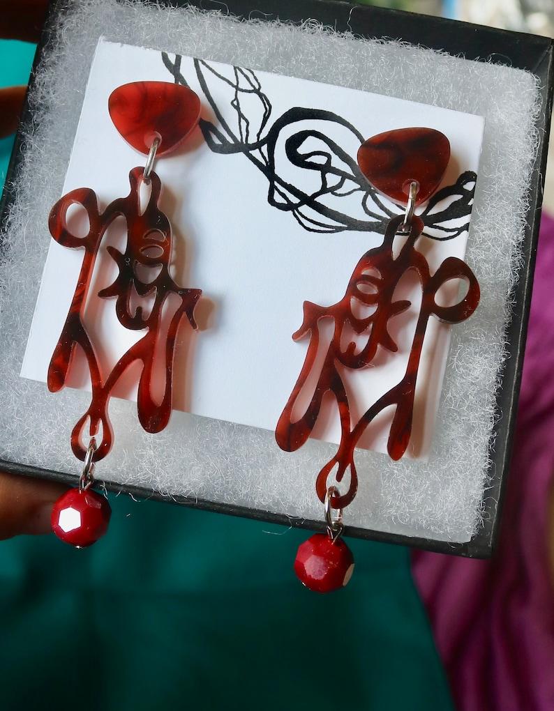 Lasercut Earrings Zodiac Jewelry Scorpio Statement Earrings Astrological Earrings Scorpio Earrings
