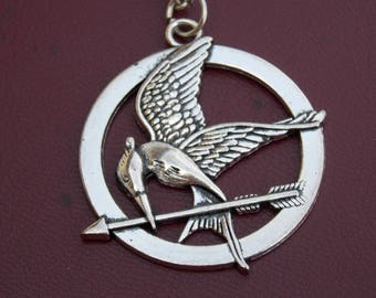 Mockingjay Golden Pendant Necklace Inspired by The Hunger Games, movie necklace, fashion necklace, expensive gift