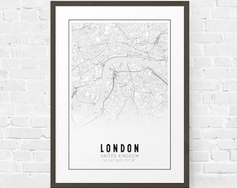 london printable black and white map europe city map london street map