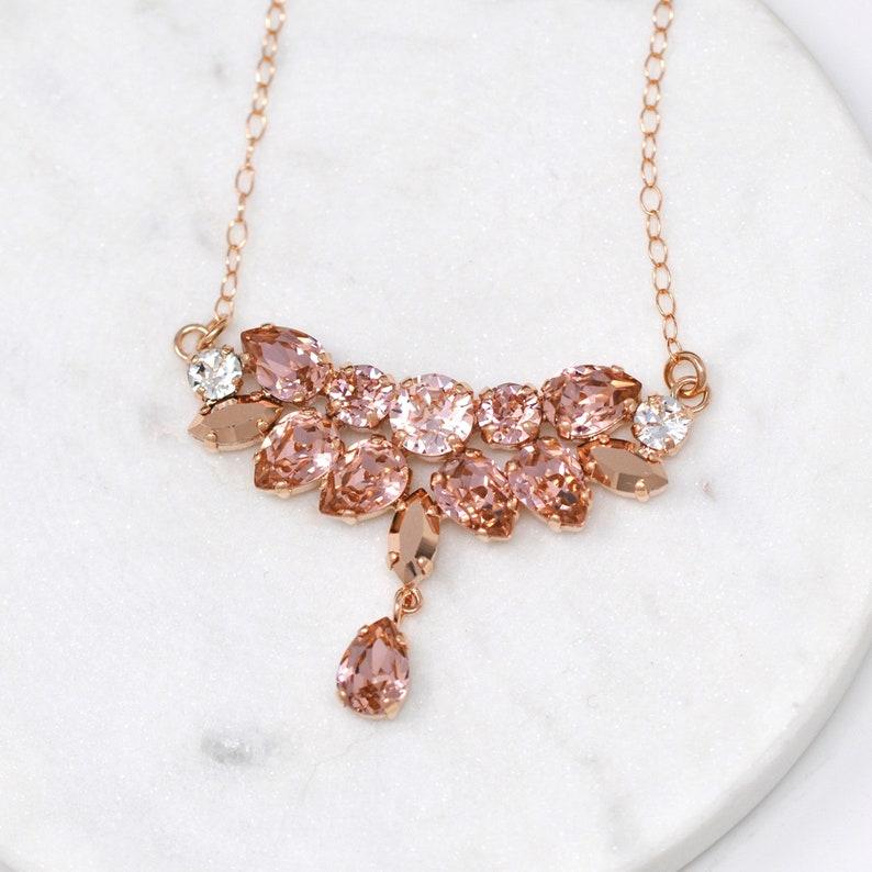 8a8a40b9c Vintage Rose Gold Silk Bridal Jewelry SetWedding | Etsy