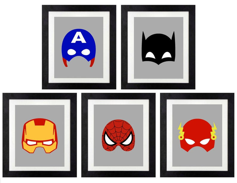 graphic regarding Printable Superhero Logos known as Superhero Printables \u003c Superhero Emblems \u003c Superhero Wall Artwork \u003c Batman \u003c Spiderman \u003c The Hulk \u003c Superman \u003c Captain Ametica \u003c Mounted of 5